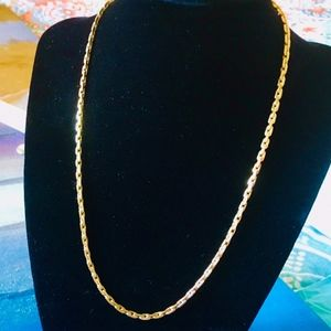 """12K GOLD FILLED FANCY LINK CHAIN NECKLACE - 18"""""""